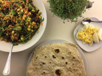 Dinkel-Wrap mit Gemüse